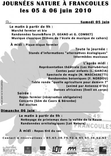 programme de la premiére année 2010
